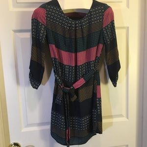 Pink Owl Apparel Patterned Dress Size S